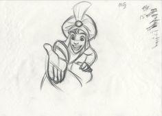 "scurvie: "" ""Do You Trust Me?"" -Art by Aladdin's Supervising Animator, Glen Keane. Animation Sketches, Cartoon Sketches, Disney Sketches, Disney Drawings, Disney Concept Art, Disney Art, Aladdin Art, Disney Sidekicks, Disney Doodles"
