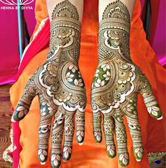 Beautiful Mehndi designs to beautify your hands this wedding season! Indian Henna Designs, Latest Bridal Mehndi Designs, Mehndi Designs 2018, Mehndi Design Pictures, Mehndi Designs For Girls, New Bridal Mehndi Designs, Full Hand Mehndi Designs, Dulhan Mehndi Designs, Mehndi Designs For Hands