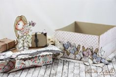 "Camilla's beautiful Gift Box, created by MajaDesign's patterned papers from ""Coffee in the Arbour"" and ""Vintage Spring Basics"" collections. #giftbox #papercraft #coffeeinthearbour #vintagespringbasics #majadesign #butterflies @CamillaStøenBakke"