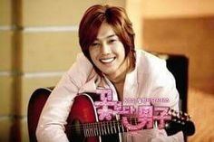 Kim Hyun Joong 김현중 ♡ as Yoon Ji Hoo ♡ Boys Over Flowers ♡ guitar ♡ smile ♡ adorable ♡ Kdrama ♡ Kpop ♡