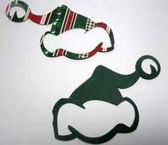 Paper Die Cut Santa Hats Christmas Print Two-Sided by thepapercove
