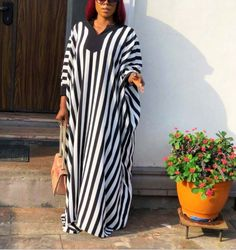 Stiway New arrival Spring and Summer Checker long V collar long maxi dress 0613 Size:Free Size Color:White Material:Cotton+Polyester African Fashion Ankara, Latest African Fashion Dresses, African Print Fashion, African Wear, African Attire, Women's Fashion Dresses, Long African Dresses, Afro, Traditional Dresses