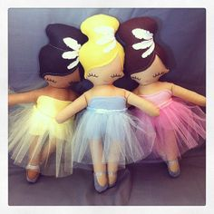 Ballerina Rag Doll Little Dancer  MADE TO by rileyconstruction