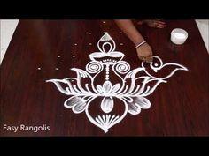 Latest Sankranthi muggulu with 9 dots // Lotus peacocks kolam // Easy Rangolis Best Rangoli Design, Rangoli Kolam Designs, Muggulu Dots, India Jewelry, Jewellery, Sankranthi Muggulu, Jewelry Illustration, Simple Rangoli, Peacocks