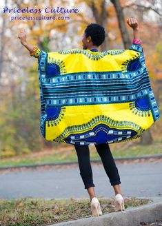 African Print Fashion, African Fashion Dresses, African Attire, African Dress, Fashion Prints, African Princess, African Tops, Dashiki Dress, Kente Cloth