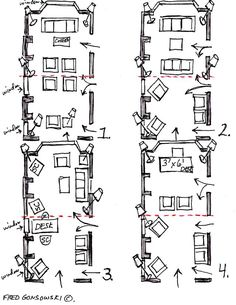Long Narrow Rooms on narrow long house plans