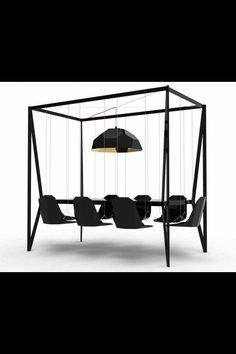Black simple modern concept Meeting room