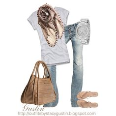 "faded jeans... Although I love ""dressy"" outfits for me, personally I'm a t-shirt and cute pair of jeans kinda girl"
