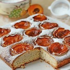 Apricot Cocoa Cake with lard. Delicious dessert from Mallorca.