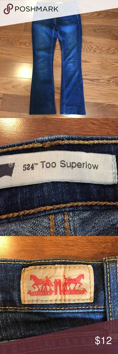 """Levi's 524 """"too superlow"""" bootcut jeans Levi's 524 """"too superlow"""" bootcut casual wash blue jeans waist-26 length-34 Levi's Pants Boot Cut & Flare"""