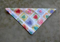 Medium Dog Bandana Multi Colored Heart and by lovelylovedesigns, $5.25