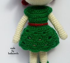 платье крючком для куклы