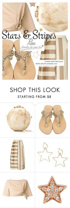 """Weekend Style featuring Pasha Jewelry Sandals"" by cultofsharon ❤ liked on Polyvore featuring Serpui, Madura, TIBI, Roberto Cavalli, Alinka and Helen Ringus"