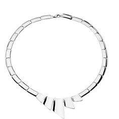 Stunning statement necklace, hand crafted from sterling silver designed by Tianguis Jackson. Available at https://www.oghamjewellery.com/