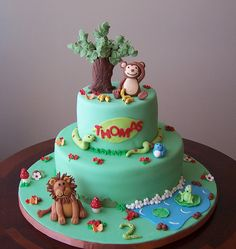 Jungle Cake for Thomas by cakespace - Beth (Chantilly Cake Designs), via Flickr