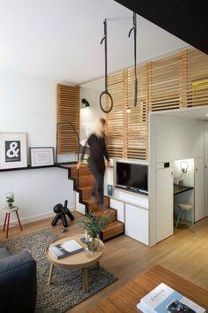 Apartamento de 25m2 en Amsterdam : El apartamento que presentamos hoy está situado en el corazón de Amsterdam, un nuevo concepto de hotel que hace un uso inteligente del espacio y la funcion