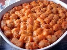 Tater Tot Casserole. If I make this, my husband will probably buy me flowers.