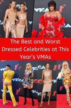 An awards show is a perfect opportunity for celebrities to show off their style, and the VMAs was no exception. Here are all the hits and all the misses. Mtv Video Music Award, Music Awards, Celebrity Dresses, Celebrity Style, Silver Blonde Hair, Jaimie Alexander, Baby Smiles, Cute Pins, Crazy People