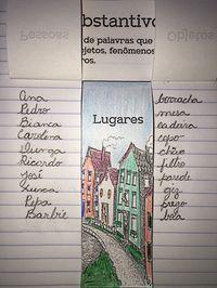 Uma forma divertida de introduzir o conceito de substantivo. Peça para que seus alunos escrevam dez nomes de: pessoas, lugares ...