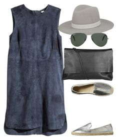 """""""Untitled #1445"""" by erinforde ❤ liked on Polyvore featuring H&M, Soludos, Janessa Leone, Arlington Milne and Ray-Ban"""