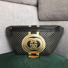 Gucci-Dapper Dan Belt Bag 536416 Black 2018 Gucci Handbags Sale, Handbags Michael Kors, Crystal Dress, Dapper Dan, Brown Sweater, Dior, Belt, Black, Fashion