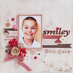 CraftHobby Oliwiaen: Smiley. layout 30x30 cm