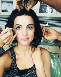 Blindspot - Premieres Thursday, April 30 at Jaimie Alexander stars as the mysteriously tattooed Jane Doe. Jaimie Alexander, Lady Sif, Way Down, Short Hair Styles, Hair Makeup, Take That, Actresses, Celebrities, Model