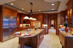 images of finished exotic granite in kitchens | ... Cream Granite Kitchen Countertop Island Installed Finished Granix 2