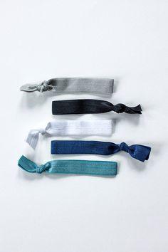 elastic hair ties -- ocean palette / etsy