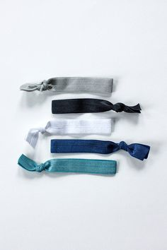 Elastic+Hair+Ties++ocean+palette+set+of+5+by+colormecaitie+on+Etsy,+$5.00