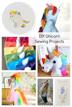 DIY Unicorn Sewing Projects unicorns unicorn sewing projects unicorn crafts sewing round up sewing DIY Kids diy