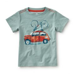 Ride the Coast Graphic Tee | This cool car is cruising toward the coast. Let his imagination ride along.