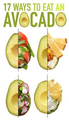 17 Ways to Eat An Avocado. This is one of my MSF Factor Foods (Most Satisfying Foods) in The Pinterest Diet.