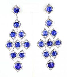 JE-BB2007 S-Sapphire  #lmbling #lmblingearrngs #lmblingblueearrings #lmblingstatementearrngs #pageantearrings #bluepageantearrings #lmblingchandelierearrings #chunkyearrings #pageantjewelry #promjewelry