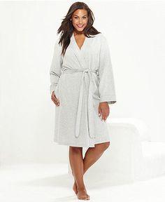 Charter Club Plus Size French Terry Kimono Robe - Plus Size Pajamas & Robes - Plus Sizes - Macy's