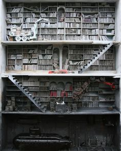 Marc Giai Miniet is a master in capturing the essence of his memories of war and childhood with his beautiful sculptures .... the books a recurring theme in almost all of them are metaphors that stand for the loss of culture....and the effect knowledge can have in the wrong hands or the absence of it ... by urbannationberlin