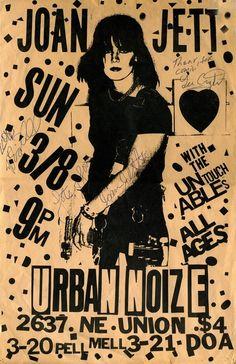 Joan Jett Concert Poster https://www.facebook.com/FromTheWaybackMachine