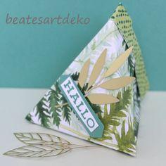 Projekt 2: Selbstschließende 3-Eckbox/Goodie/Mitbringsel/Verpackung - Box 1 Napkins, Box, Paper, Encouragement, Stamping, Cordial, Packaging, Projects, Cards