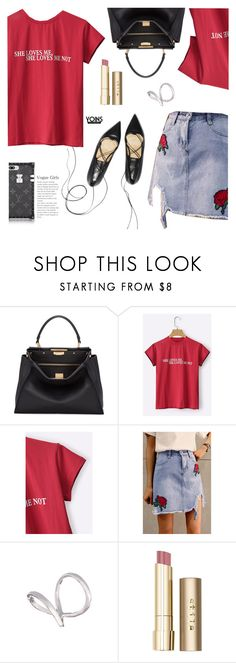 """""""Yoins 15: The girl"""" by bugatti-veyron ❤ liked on Polyvore featuring Fendi, Stila, yoins, yoinscollection and loveyoins"""