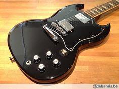 Gibson 2011 SG Standard in Ebony + Gibson Case +  Straplocks - Te koop
