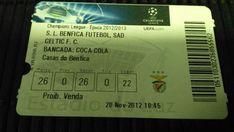 TICKET CHAMPIONS LEAGUE 12/13 SL BENFICA x CELTIC FC