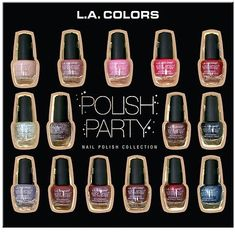 L.A. Colors 15 Piece Polish Party Nail Polish Collection Gift Set La Colors Nail Polish, Protein Shop, Kids Toy Sale, Chocolate Gum, Bath And Body Shop, Sugar Free Candy, Gift Card Sale, Oil Shop, Party Nails