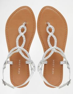 4a63f4d292dd Image 3 of New Look Plaited Leather Twist Sandal Bridesmaid Shoes