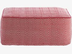 DURRIE REDS Fabric Red/white patterned floor cushion - HabitatUK