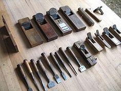 Japanese woodcraft tools in Kenji's Workshop