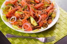 Sałatka z łososiem i pieczonymi warzywami <3