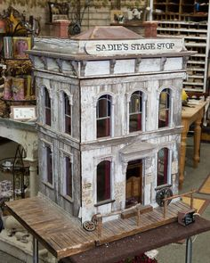 Sadies Stage Shop, by Pat Carter, on display at the Good Sam Showcase of Miniatures.