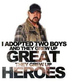 """Supernatural 7.10 """"Death's Door"""" - Bobby: """"As fate would have it, I adopted two boys. And they grew up great. They grew up heroes."""" ♥"""