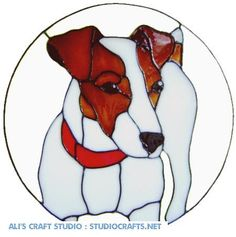 Jack Russell Dog Handpainted Window Cling get by AlisCraftStudio