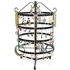 VENKON - Design Schmuckständer Drehbarer Schmuck Organizer Ohrringhalter Kettenhalter - schwarz - 35 x 23 cm Venkon http://www.amazon.de/dp/B00XW774SO/ref=cm_sw_r_pi_dp_IQExwb1NCR9ZQ